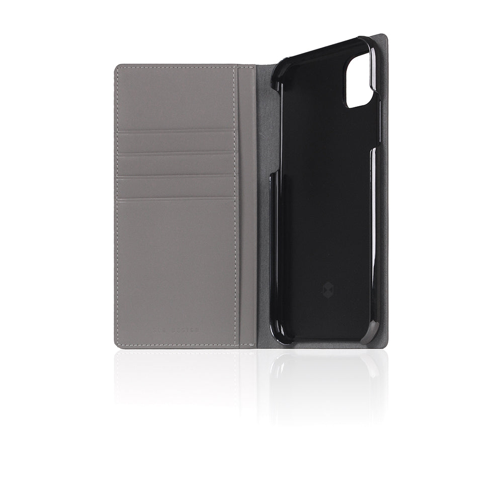 D5 Calf Skin Leather Case for iPhone 11 Gray