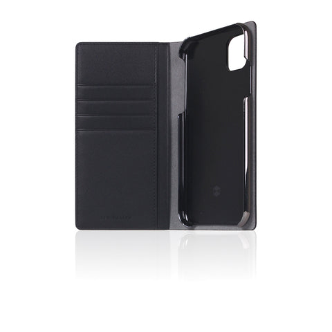 D5 Calf Skin Leather Case for iPhone 11 Black