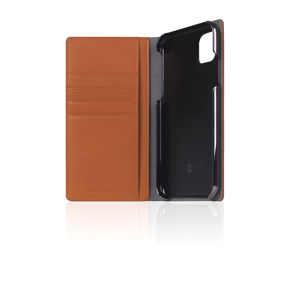 D5 Calf Skin Leather Case for iPhone 11 Camel