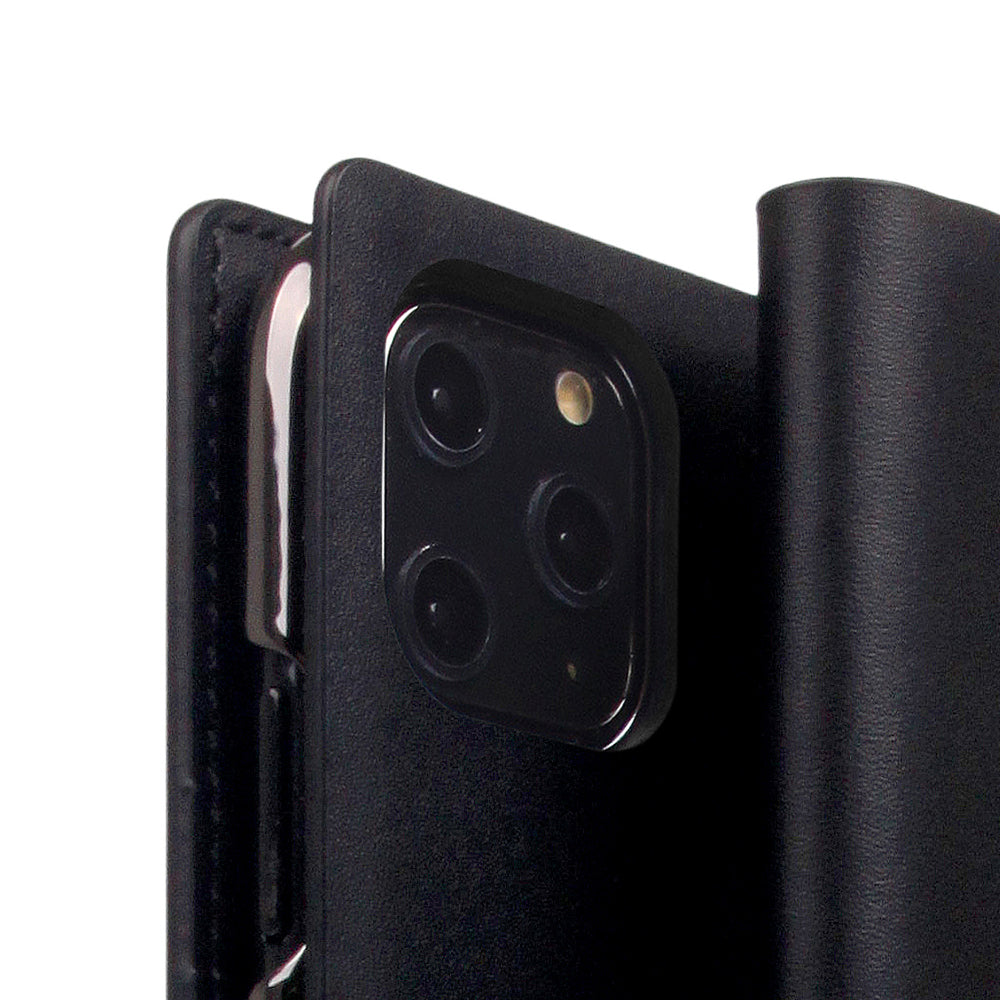 D5 Calf Skin Leather Case for iPhone 11 Pro Black