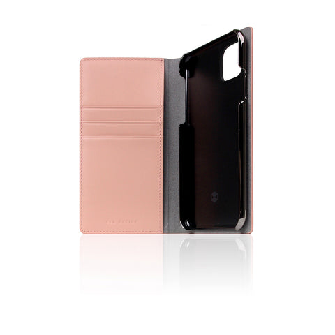 D5 Calf Skin Leather Case for iPhone 11 Pro Baby Pink