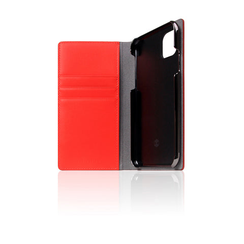 D5 Calf Skin Leather Case for iPhone 11 Pro Red