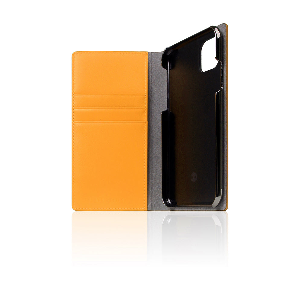 D5 Calf Skin Leather Case for iPhone 11 Pro Yellow