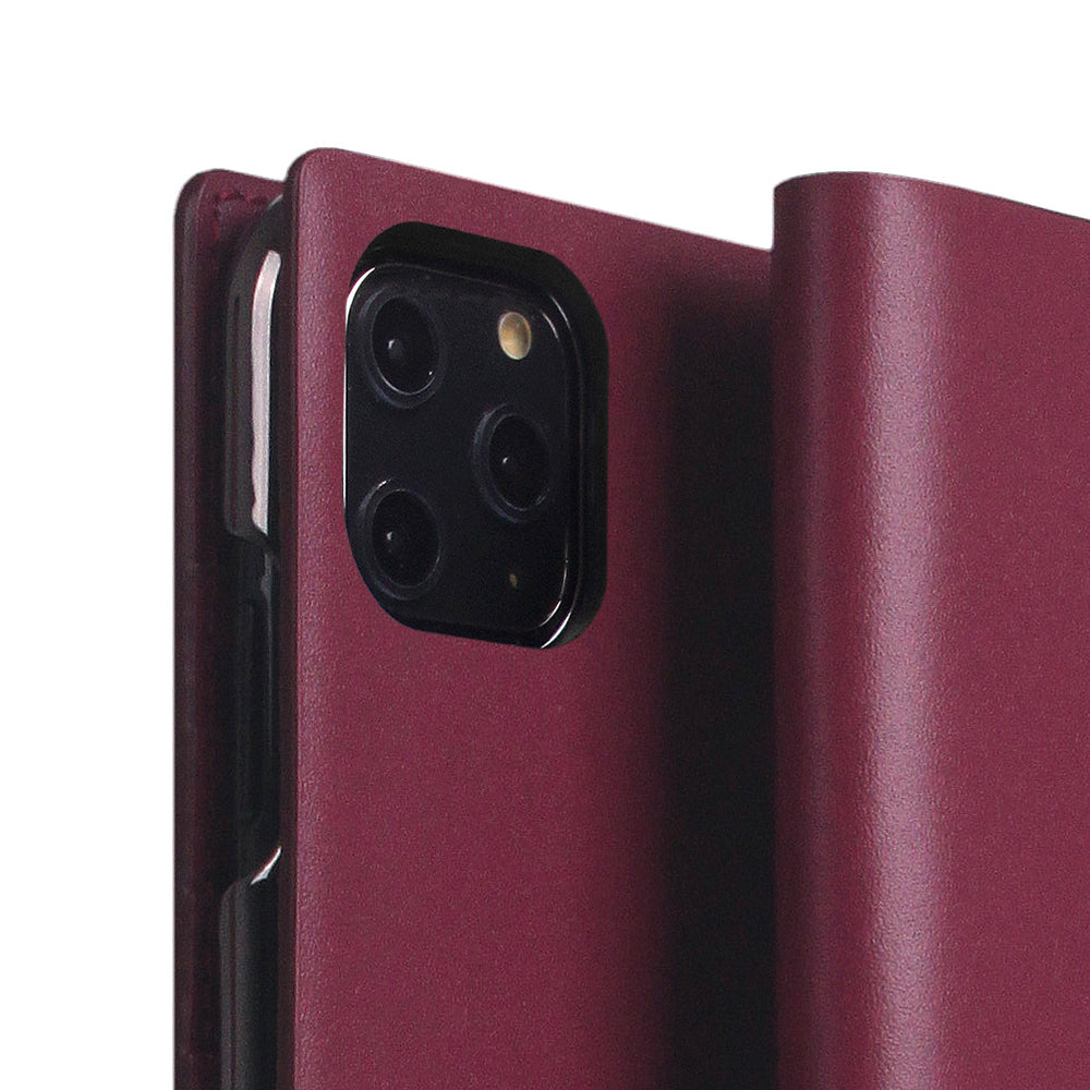 D5 Calf Skin Leather Case for iPhone 11 Pro Max Burgundy