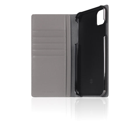 D5 Calf Skin Leather Case for iPhone 11 Pro Max Gray
