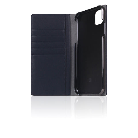 D5 Calf Skin Leather Case for iPhone 11 Pro Max Navy