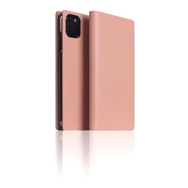 D5 Calf Skin Leather Case for iPhone 11 Pro Max Baby Pink