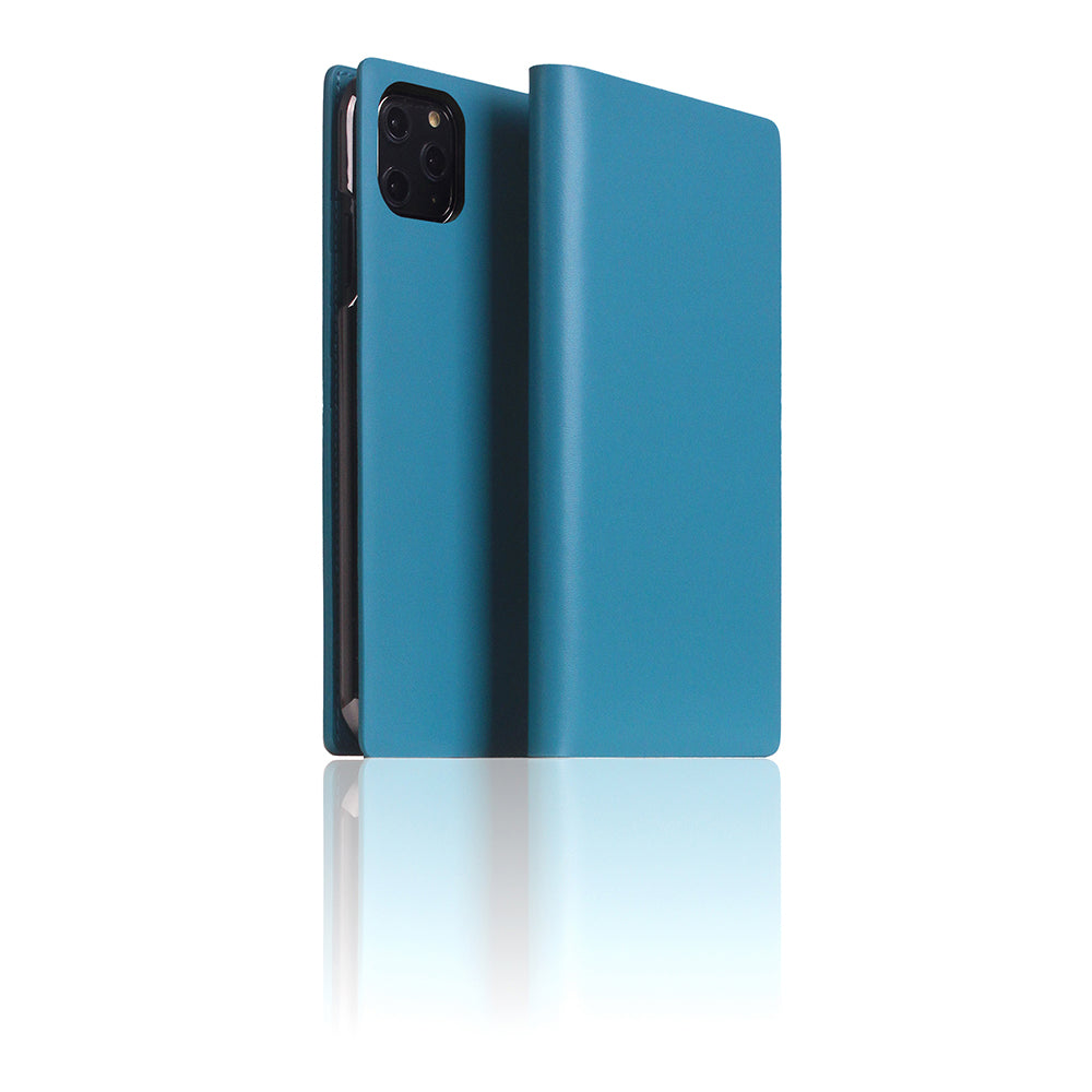 D5 Calf Skin Leather Case for iPhone 11 Pro Max Blue