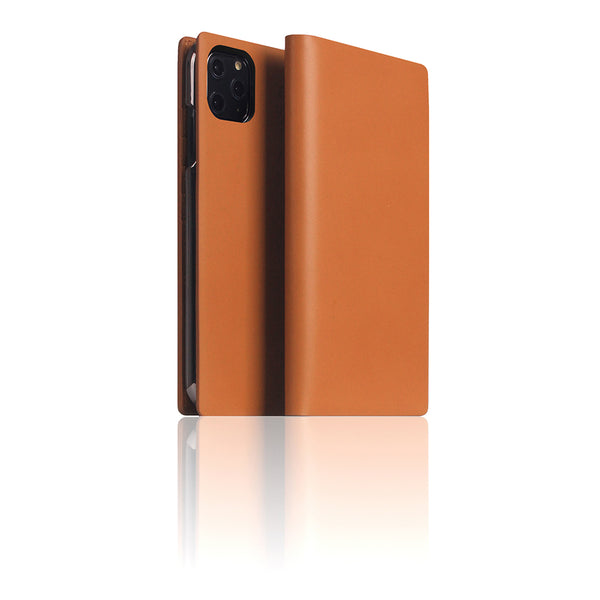 D5 Calf Skin Leather Case for iPhone 11 Pro Max Camel