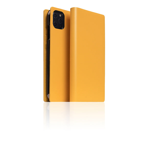 D5 Calf Skin Leather Case for iPhone 11 Pro Max Yellow
