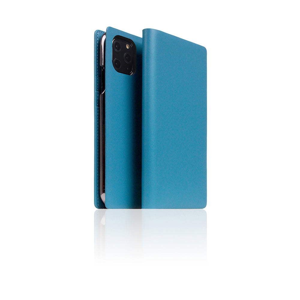 D5 Calf Skin Leather Case for iPhone 11 Pro Blue