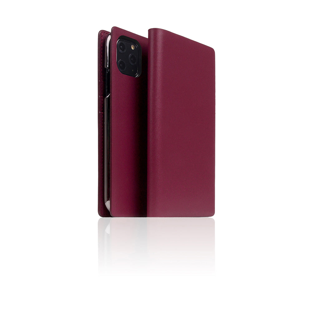 D5 Calf Skin Leather Case for iPhone 11 Pro Burgundy