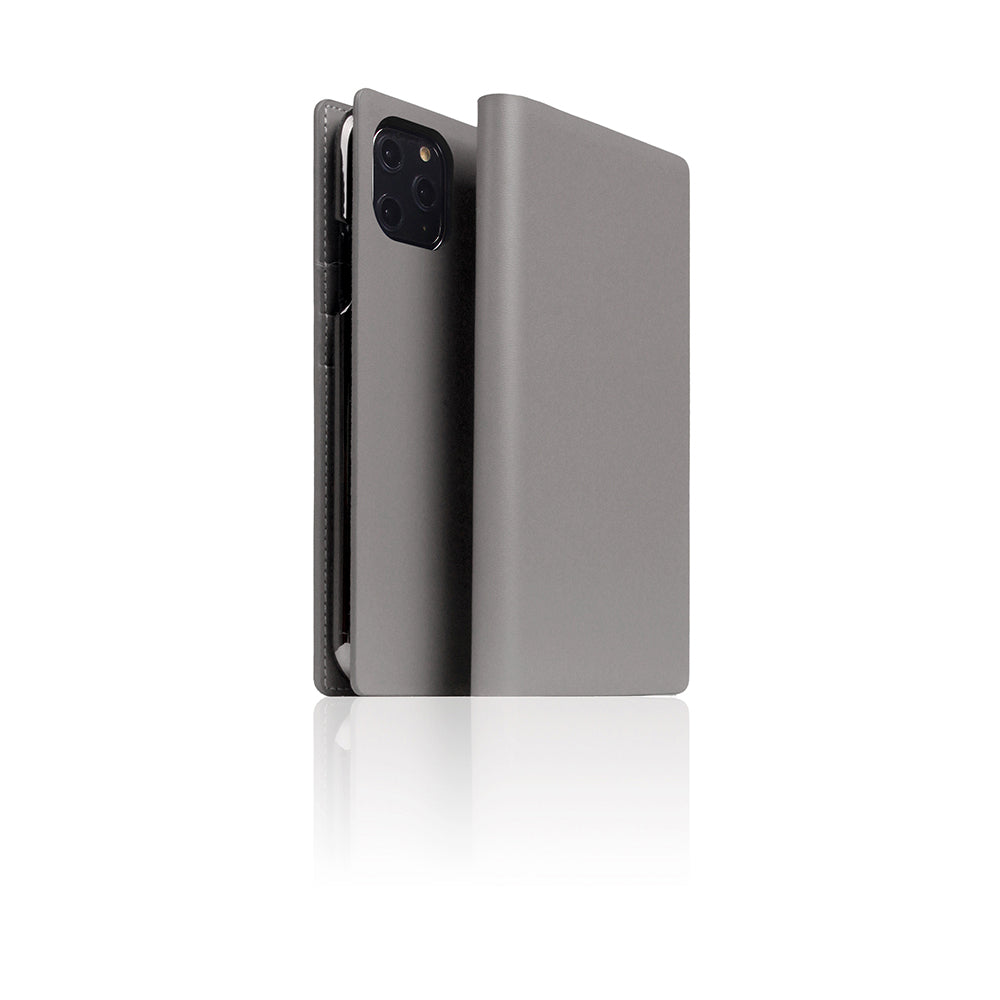 D5 Calf Skin Leather Case for iPhone 11 Pro Gray