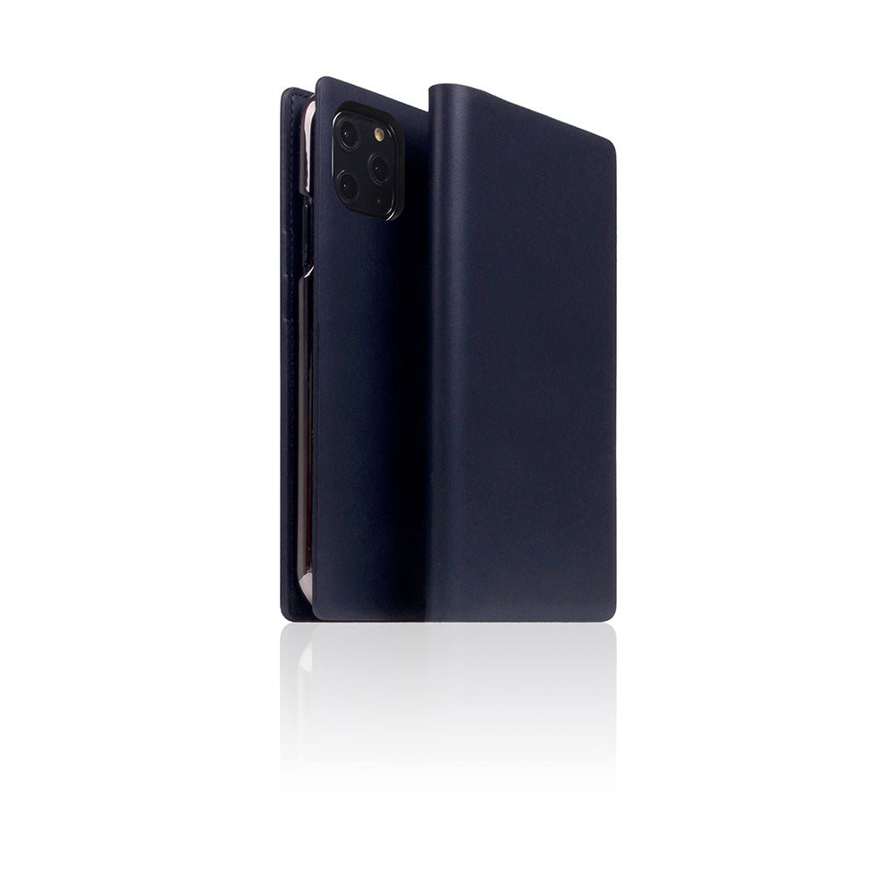 D5 Calf Skin Leather Case for iPhone 11 Pro Navy