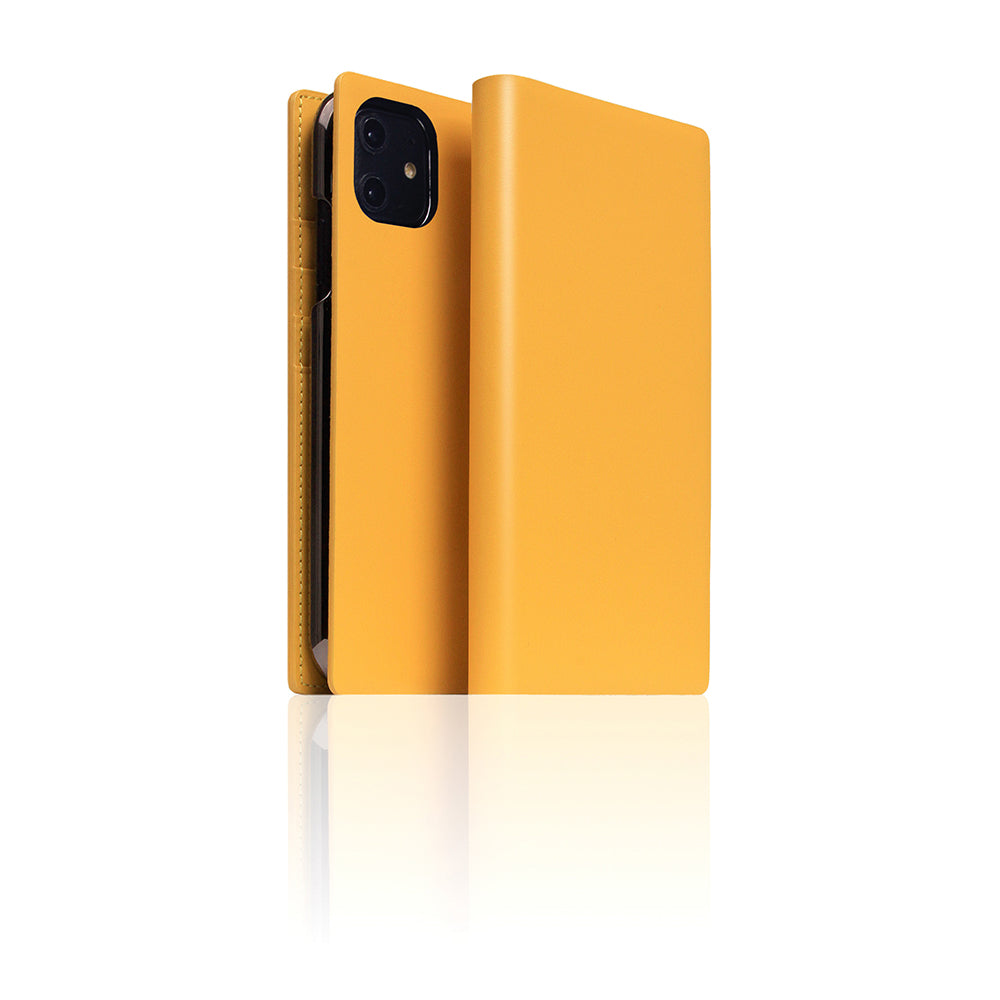 D5 Calf Skin Leather Case for iPhone 11 Yellow