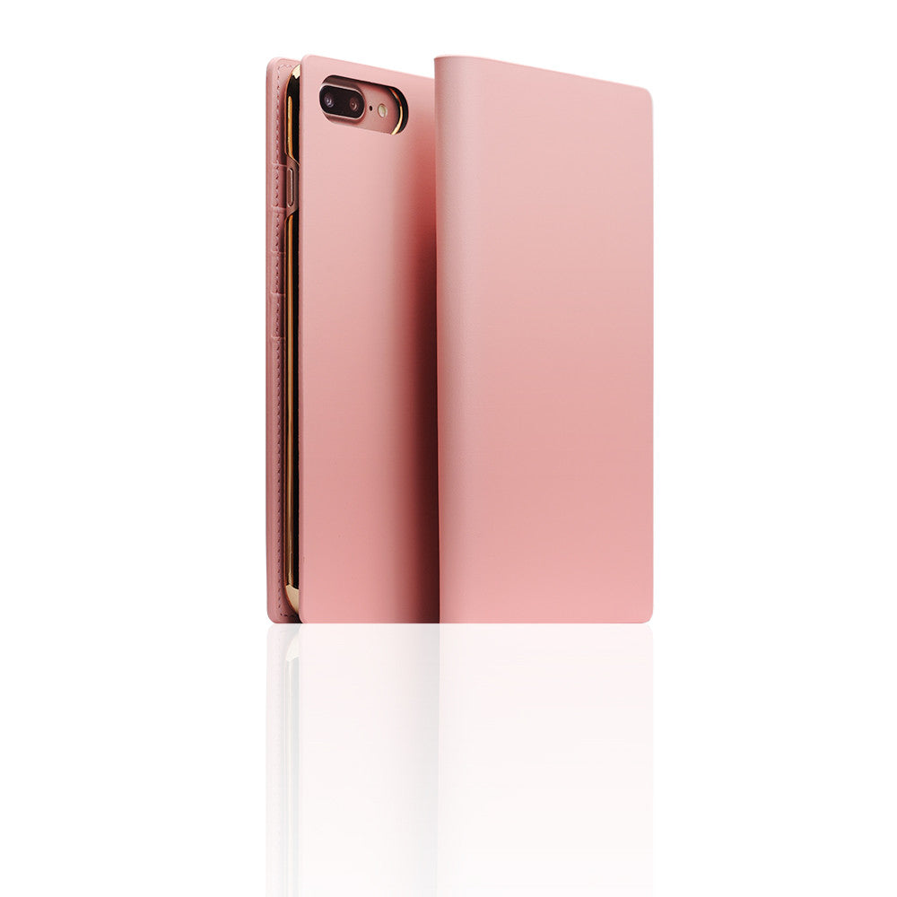 D5 Calf Skin Leather Case for iPhone 8 Plus / 7 Plus Baby Pink