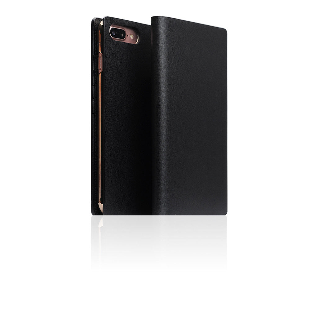 D5 Calf Skin Leather Case for iPhone 8 Plus / 7 Plus Black