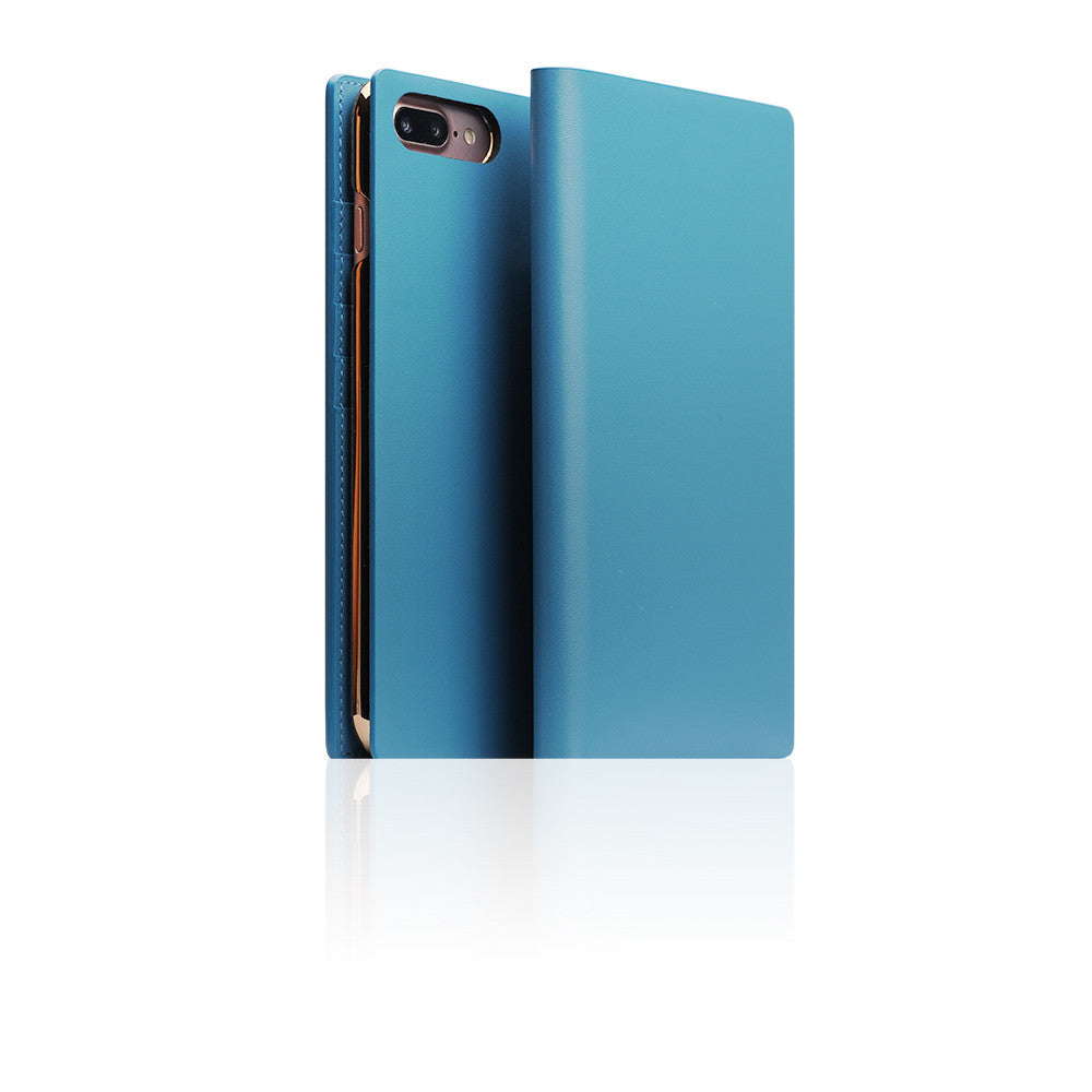 D5 Calf Skin Leather Case for iPhone 8 Plus / 7 Plus Blue