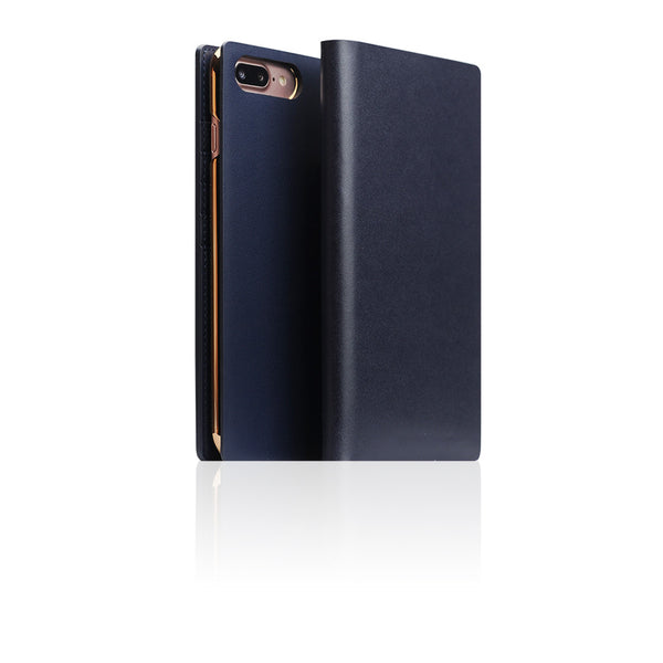 D5 Calf Skin Leather Case for iPhone 8 Plus / 7 Plus Navy