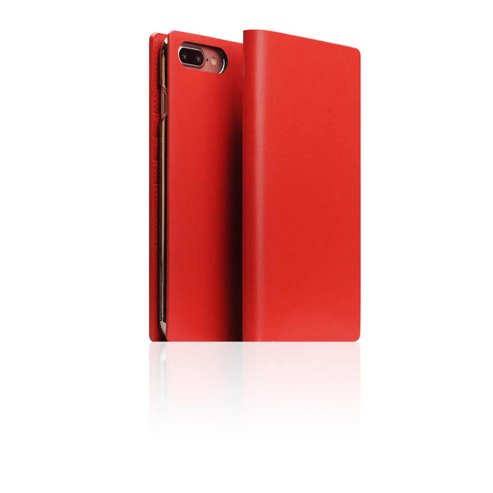 D5 Calf Skin Leather Case for iPhone 7 Plus Red