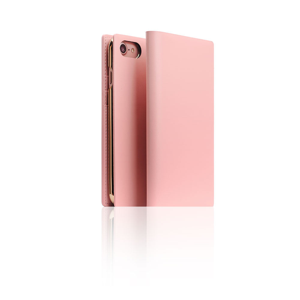 D5 Calf Skin Leather Case for iPhone 8 / 7 Baby Pink