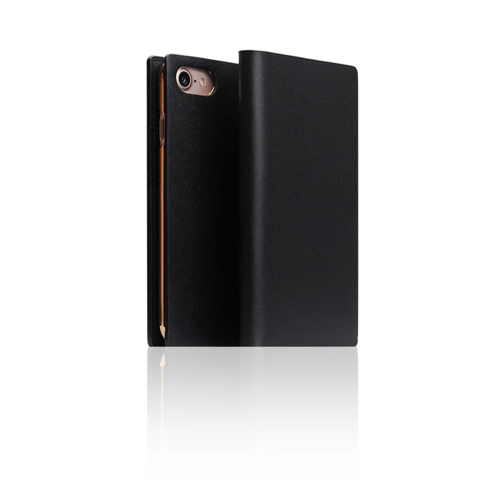 D5 Calf Skin Leather Case for iPhone 8 / 7 Black