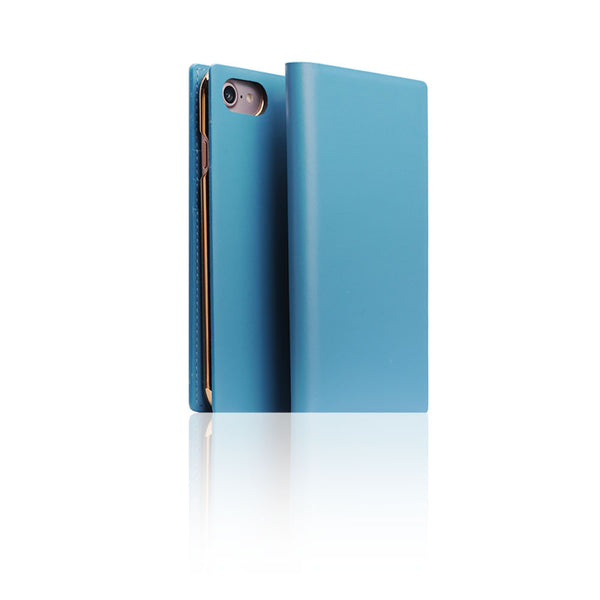 D5 Calf Skin Leather Case for iPhone 7 Blue