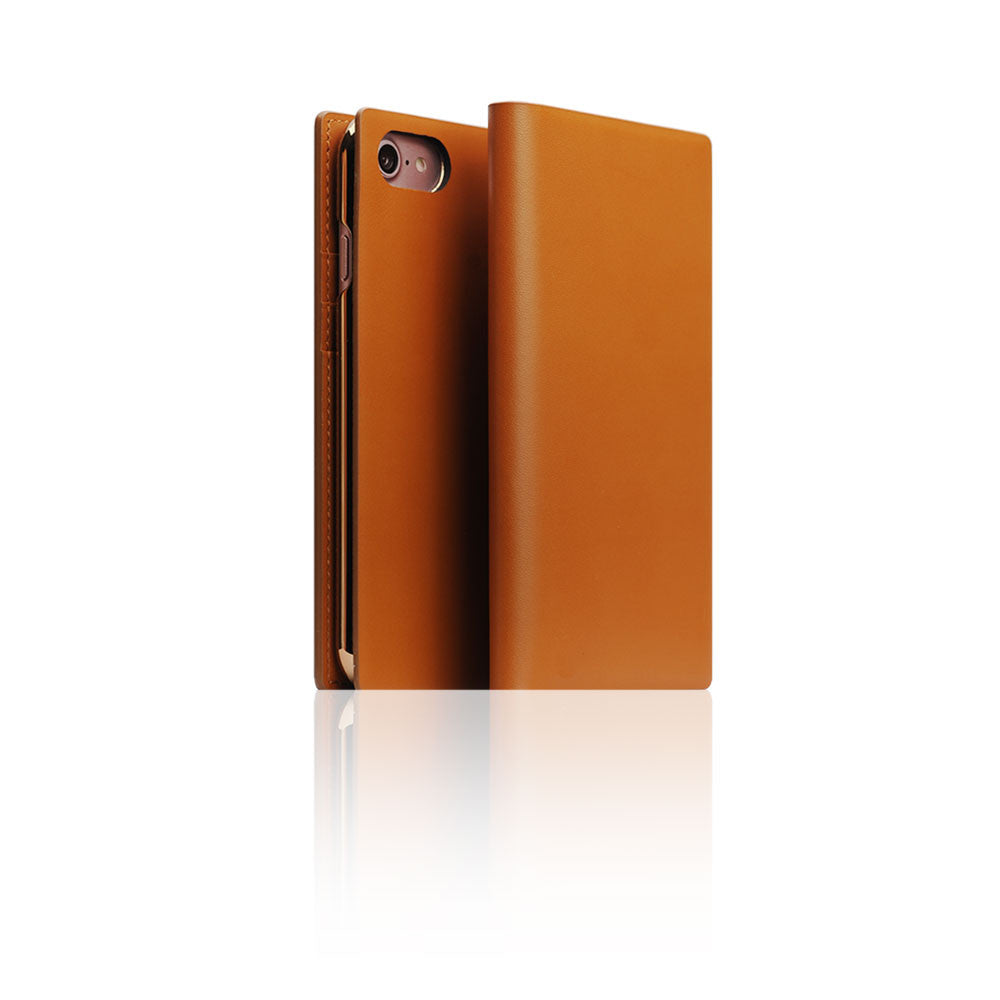 D5 Calf Skin Leather Case for iPhone 8 / 7 Camel