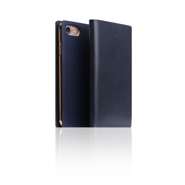 D5 Calf Skin Leather Case for iPhone 8 / 7 Navy