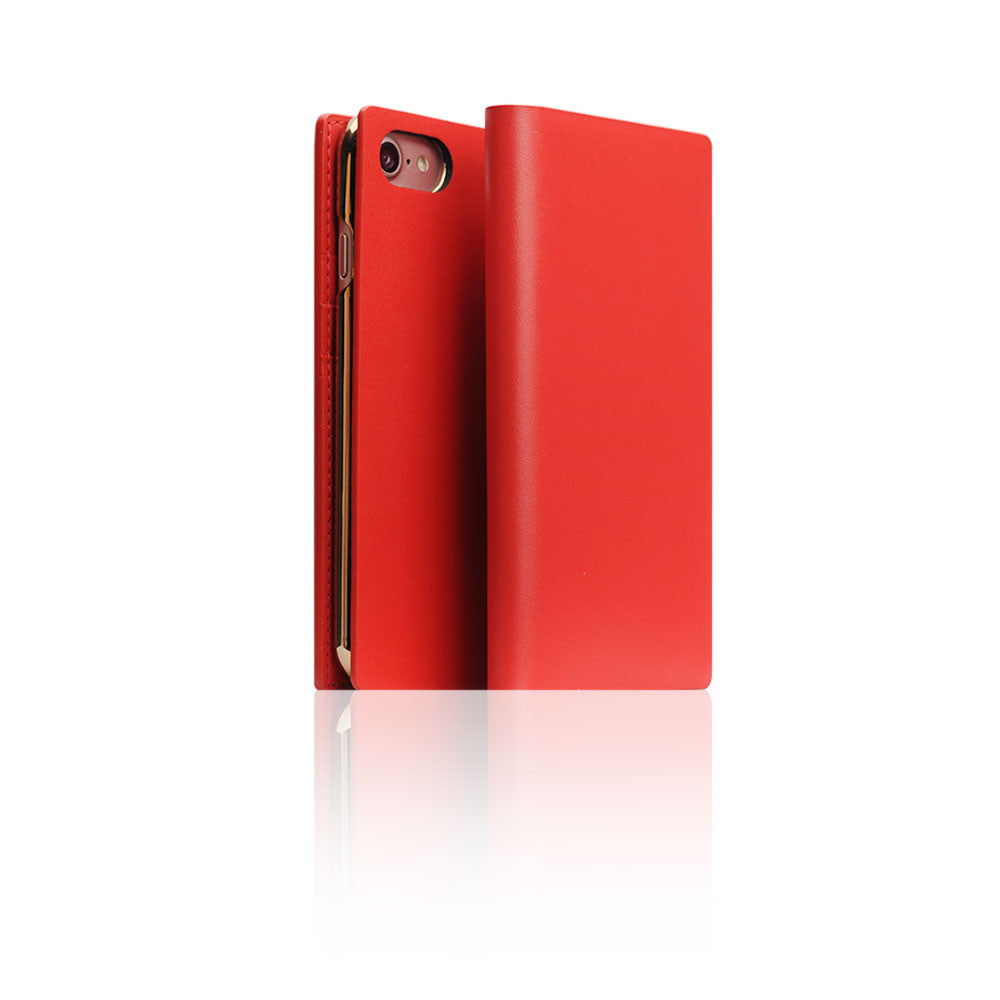 D5 Calf Skin Leather Case for iPhone 8 / 7 Red