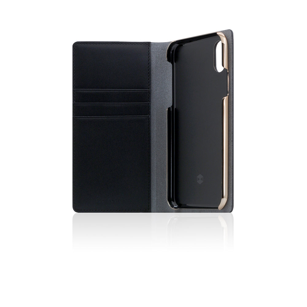 D5 Calf Skin Leather Case for iPhone X / XS Black