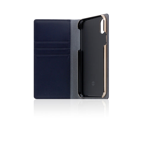 D5 Calf Skin Leather Case for iPhone X / XS Navy