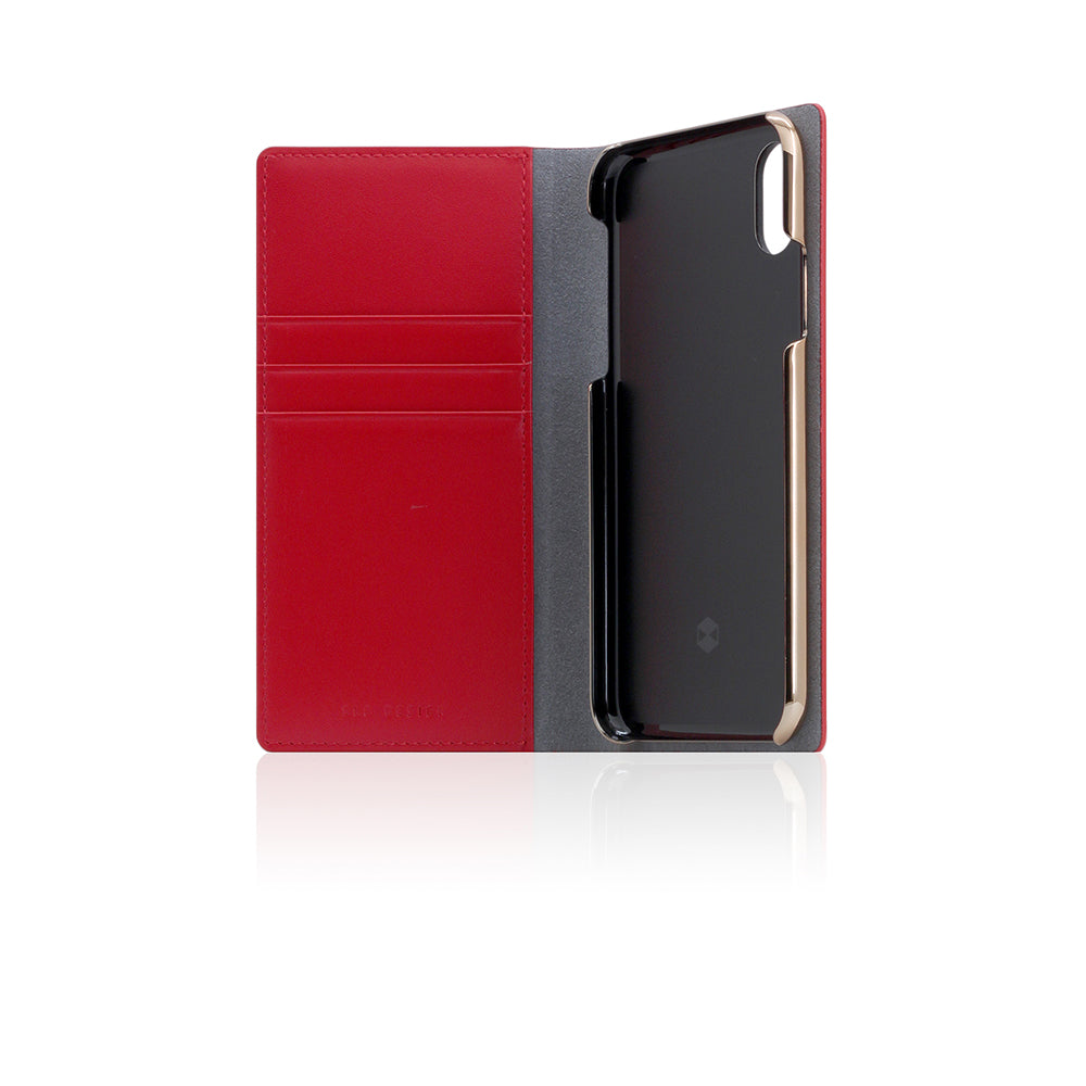 D5 Calf Skin Leather Case for iPhone X Red