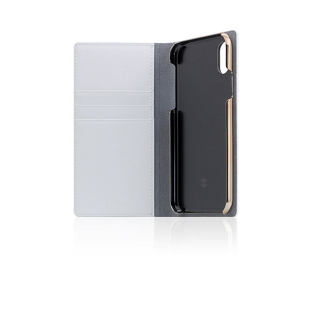D5 Calf Skin Leather Case for iPhone X White