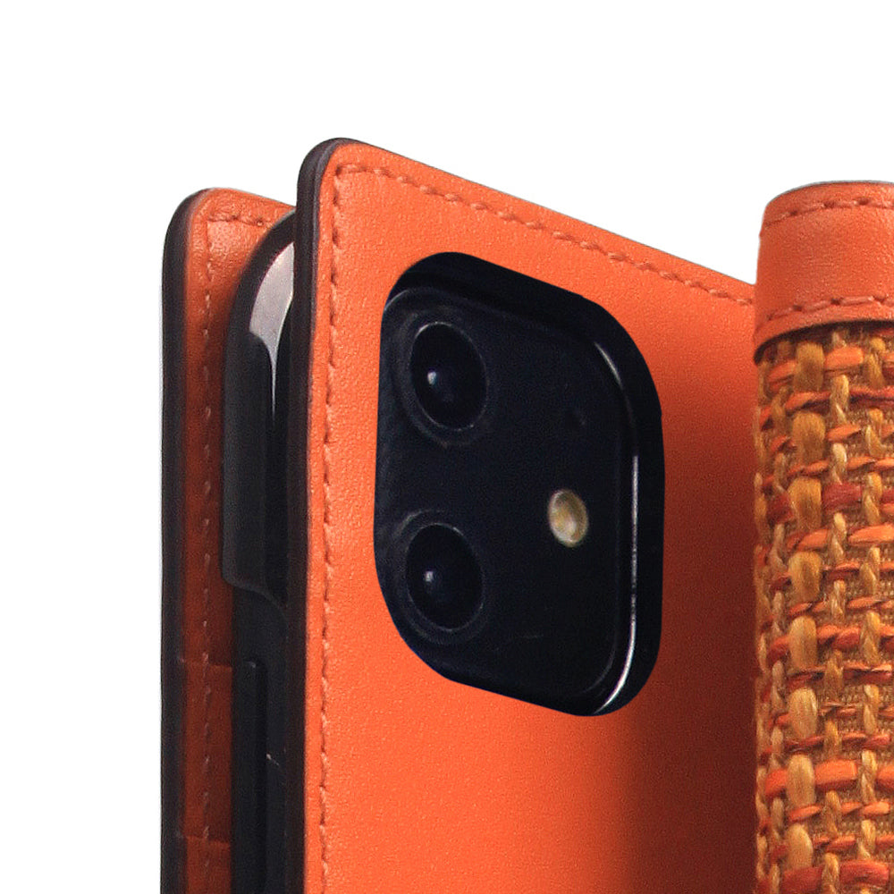 D5 Edition Calf Skin Leather Case for iPhone 11 (Orange)