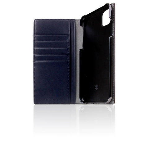 D5 Edition Calf Skin Leather Case for iPhone 11 Pro Max (Navy)