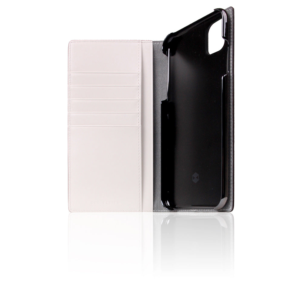 D5 Edition Calf Skin Leather Case for iPhone 11 Pro Max (White)