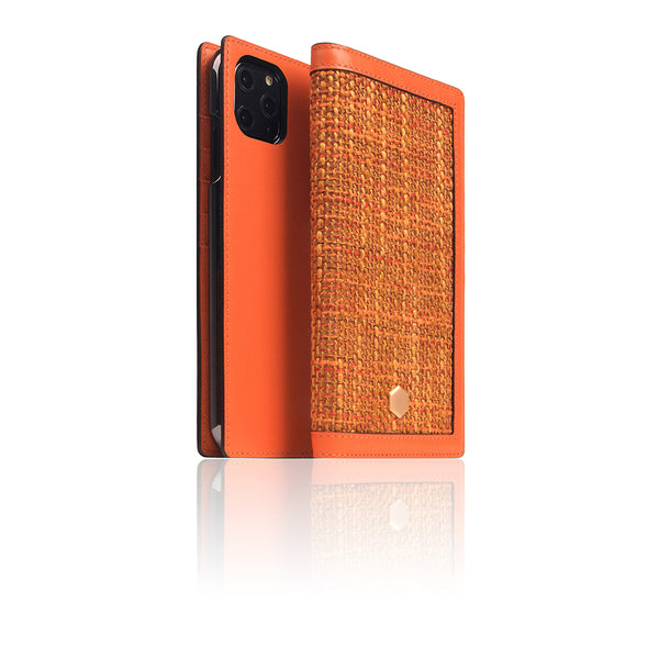 D5 Edition Calf Skin Leather Case for iPhone 11 Pro Max (Orange)