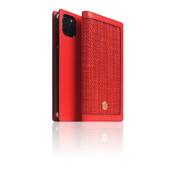 D5 Edition Calf Skin Leather Case for iPhone 11 Pro Max (Red)