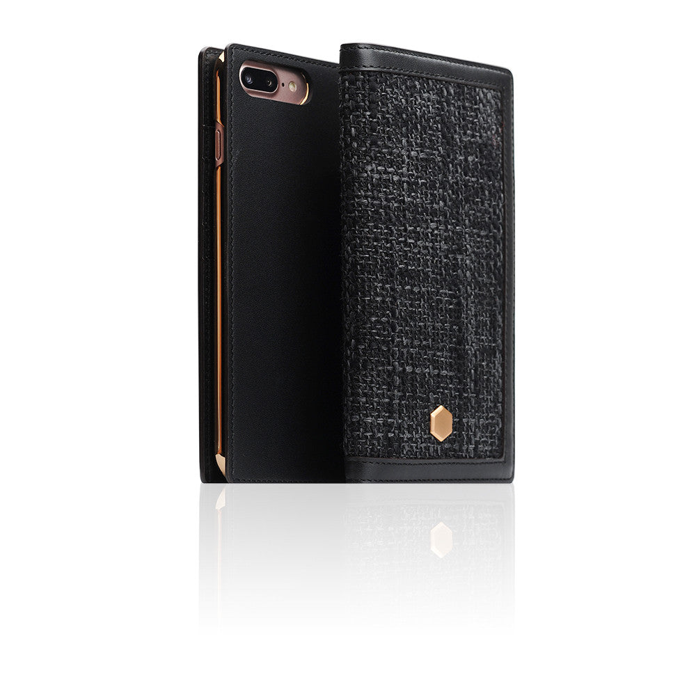 D5 Edition Calf Skin Leather Case for iPhone 8 Plus / 7 Plus (Black)