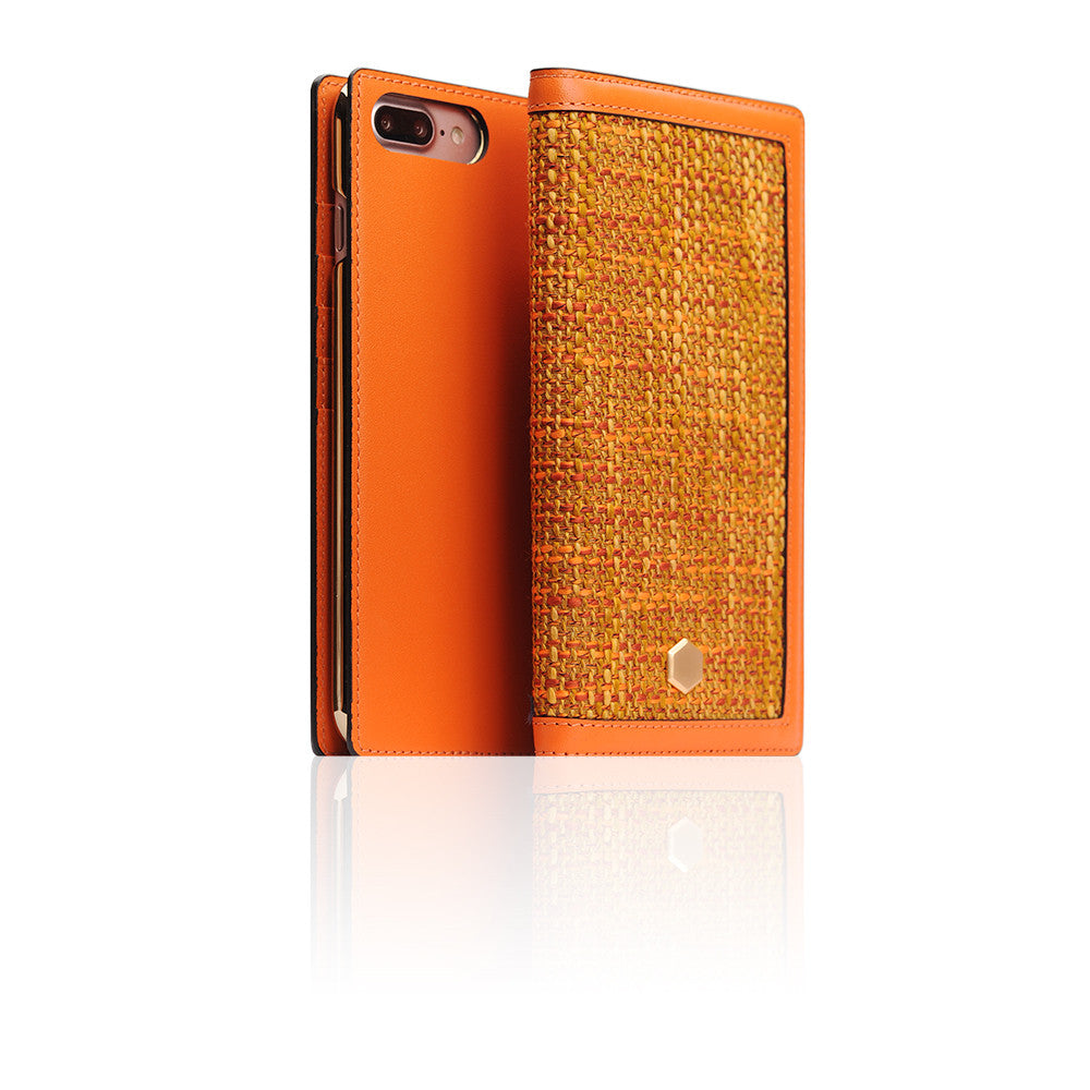 D5 Edition Calf Skin Leather Case for iPhone 8 Plus / 7 Plus (Orange)