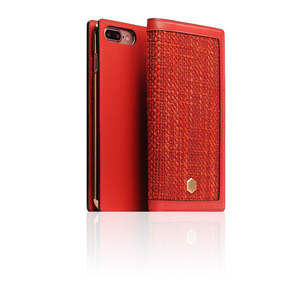 D5 Edition Calf Skin Leather Case for iPhone 8 Plus / 7 Plus (Red)