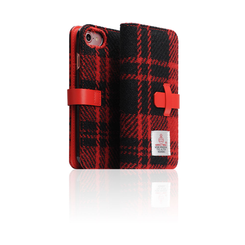 D5 Special Edition X Harris Tweed Case for iPhone 8 / 7 B/Red