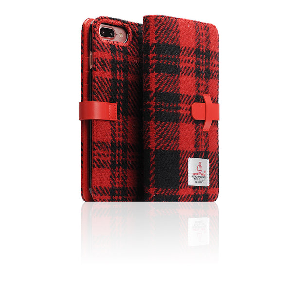D5 Special Edition X Harris Tweed Case for iPhone 7 Plus B/Red