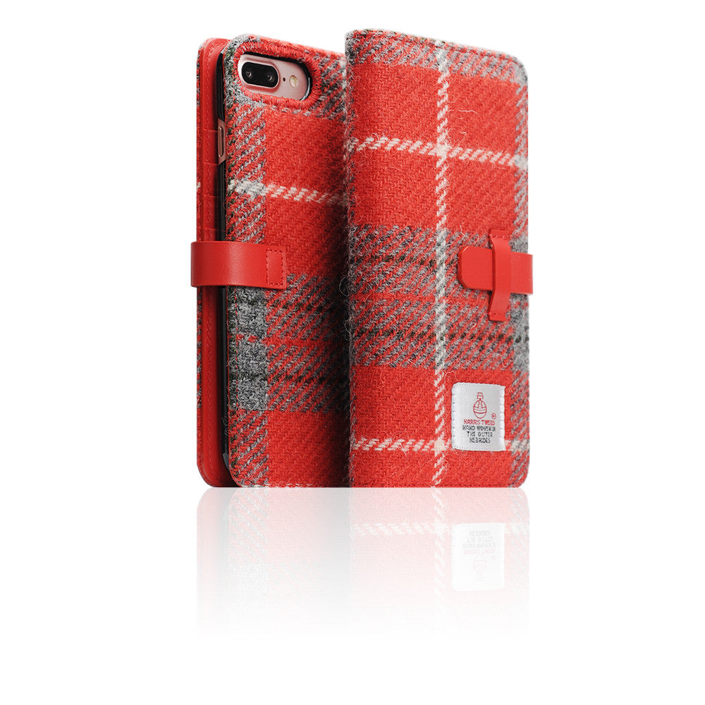 D5 Special Edition X Harris Tweed Case for iPhone 8 Plus / 7 Plus G/Red