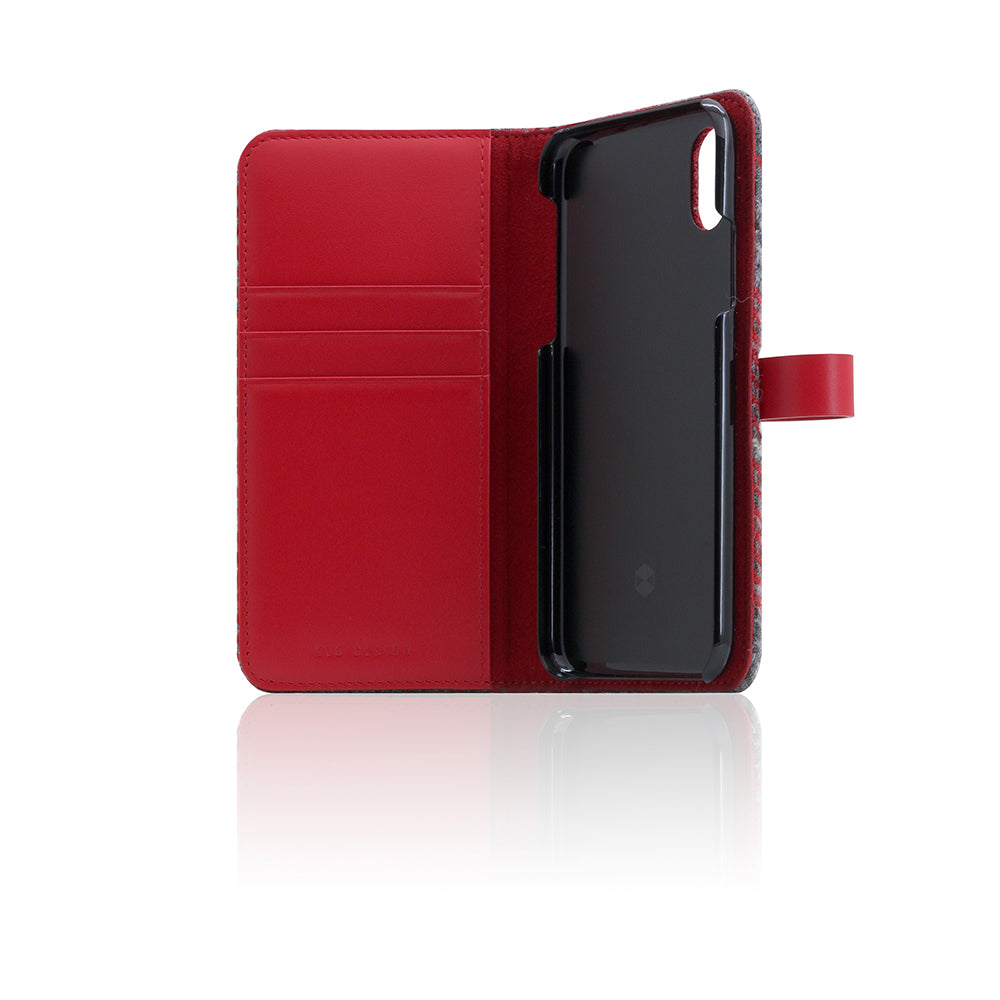 D5 Special Edition X Harris Tweed Case for iPhone X / XS G.Red