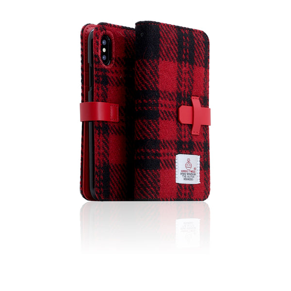 D5 Special Edition X Harris Tweed Case for iPhone X / XS B.Red