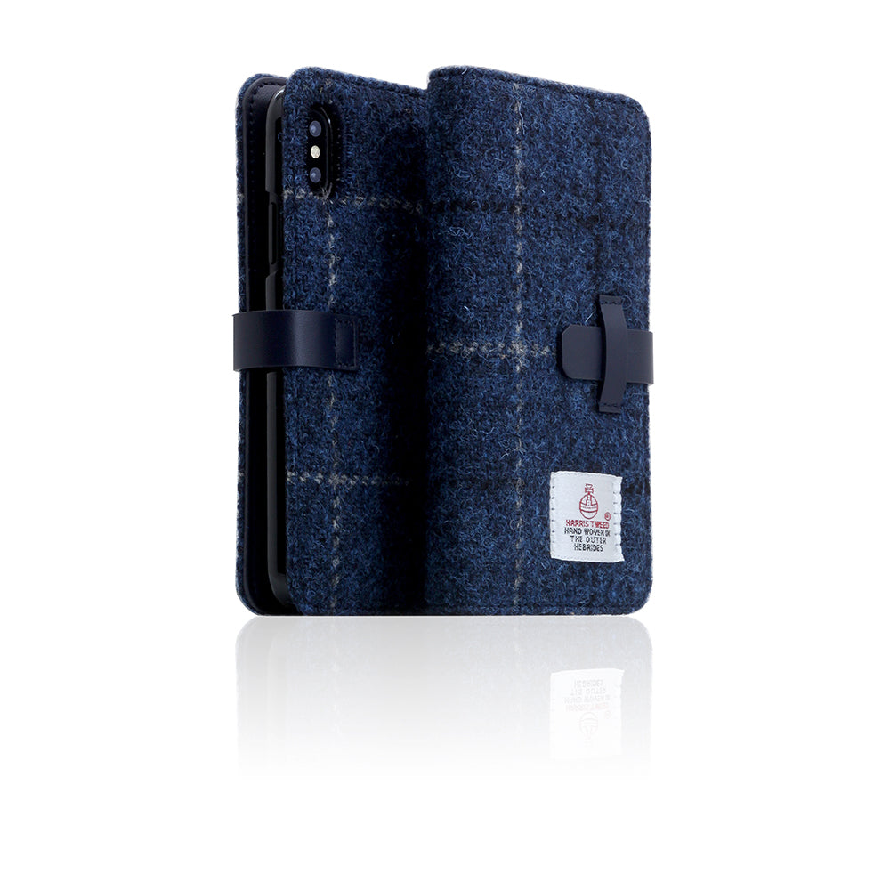 D5 Special Edition X Harris Tweed Case for iPhone X / XS Navy