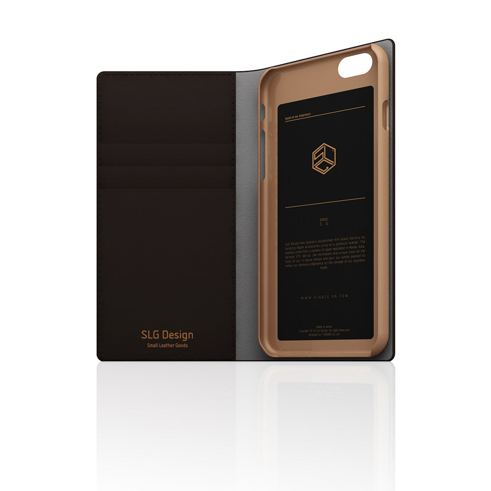 D5 Calf Skin Leather Case for iPhone 6/6s Brown