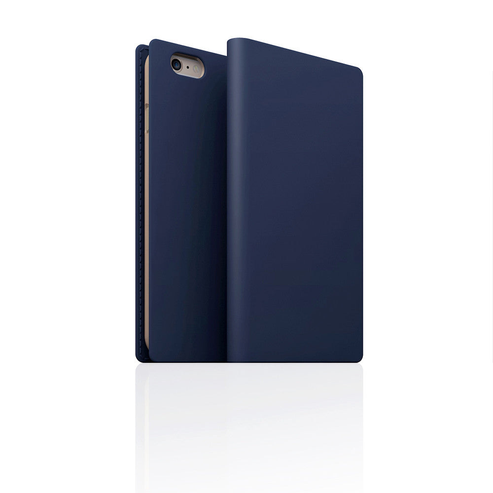 D5 Calf Skin Leather Case for iPhone 6/6s Navy